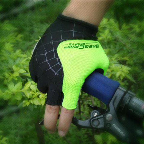 New BaseCamp BC-202 Super Breathable Grid Fabric Unisex Half-finger Cycling Gloves -   Mobile