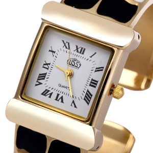 USS 1430 Quartz Women Watch Bracelet Epoxy Stainless Steel Watchband -
