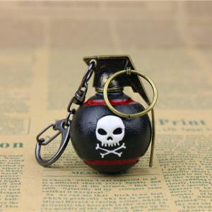 7cm Key Chain HE Grenade Hanging Pendant Metal Keyring for Bag Decoration
