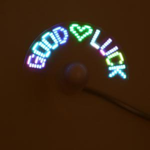 Colorful Flexible Neck USB Fan with 2 Blade / LED Light -