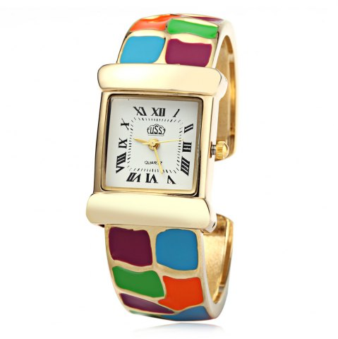 Outfits USS 1430 Quartz Women Watch Bracelet Epoxy Stainless Steel Watchband