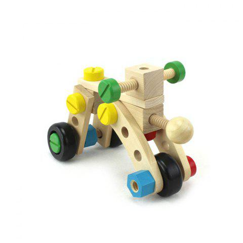 Outfit DIY Wooden Car Intelligence Assemble Model for Baby Early Learning Educational Toy