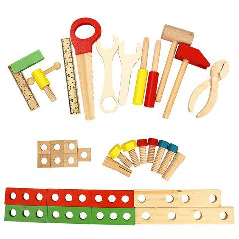 Affordable Wooden DIY Tool Kit Hand Box Repair Equipment Simulation Educational Toy for Kid Gift - WOOD  Mobile