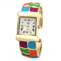 USS 1430 Quartz Women Watch Bracelet Epoxy Stainless Steel Watchband