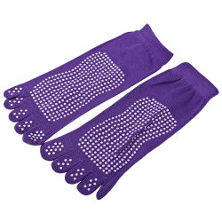 Skidproof Five Toe Yoga Cotton Socks for Women