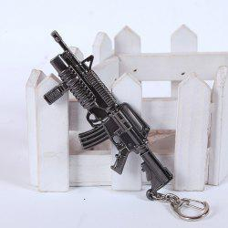 12cm Key Chain Sniping Rifle Hanging Pendant Metal Keyring for Bag Decoration -