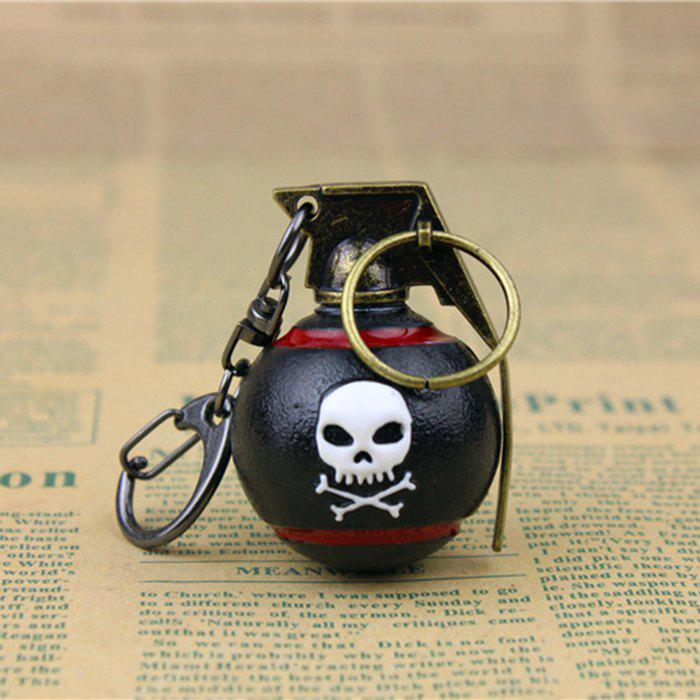 7cm Key Chain HE Grenade Hanging Pendant Metal Keyring for Bag DecorationHOME<br><br>Color: BLACK; Materials: Metal; Theme: Military; Gender: Unisex; Design Style: Other; Stem From: South Korea;