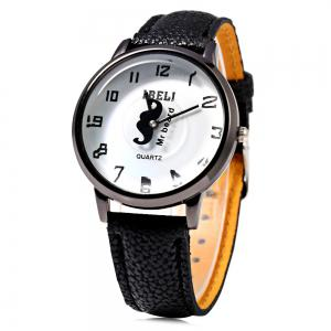 IBELI 801 Quartz Watch Beard Second Dial Arabic Numerals for Women -