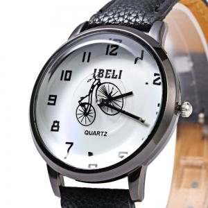 IBELI 805 Quartz Watch Small Bike Second Dial Arabic Numerals for Women -