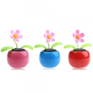 Solar Energy Shaking Apple Blossom Sunflower House Decoration Christmas Gift -