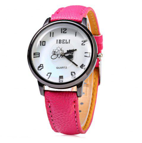 Outfits IBELI 808 Quartz Watch Lover Pattern Second Dial Arabic Numerals for Women