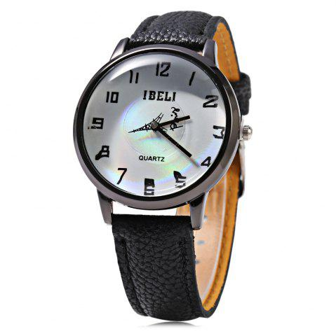 Fashion IBELI 807 Quartz Watch Eiffel Tower Second Dial Arabic Numerals for Women