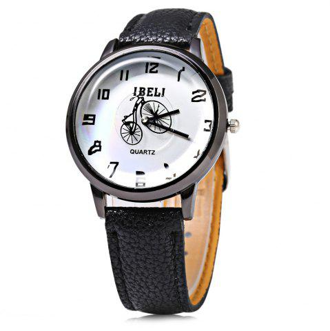 Hot IBELI 805 Quartz Watch Small Bike Second Dial Arabic Numerals for Women