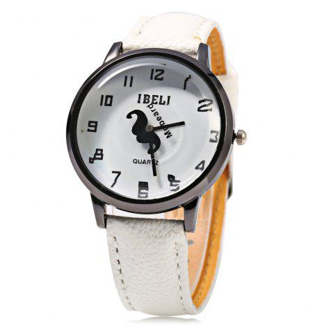 Chic IBELI 801 Quartz Watch Beard Second Dial Arabic Numerals for Women