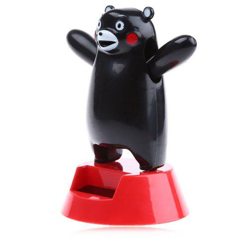 Énergie solaire Shaking Black Bear House Decoration Christmas Gift Noir