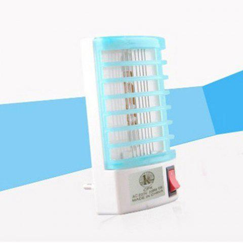 Fancy 2 in 1 Mute Mosquito Killer Lamp LED Night Light Atmosphere Nightlight Decors - EU PLUG BLUE AND WHITE Mobile