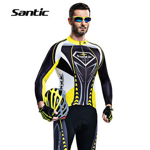 Cheap Santic WMCT039 Male Cycling Long Sleeves Suit 4D Stereo Cushion -   Mobile