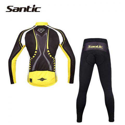 Chic Santic WMCT039 Male Cycling Long Sleeves Suit 4D Stereo Cushion -   Mobile