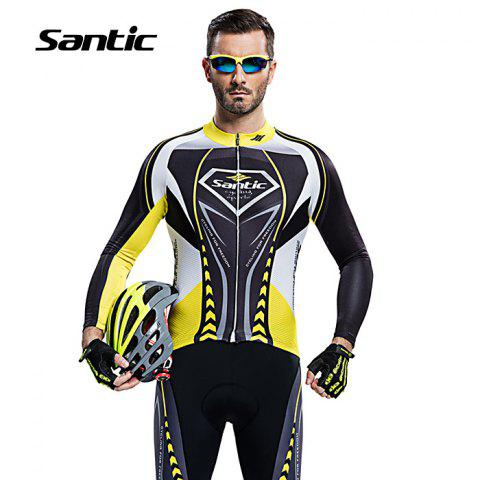 Sale Santic WMCT039 Male Cycling Long Sleeves Suit 4D Stereo Cushion -   Mobile