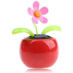 Solar Energy Shaking Apple Blossom Sunflower House Decoration Christmas Gift - RED
