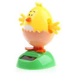 Énergie solaire Shaking Chick with Eggshell House Decoration Christmas Gift - Jaune