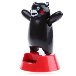 Solar Energy Shaking Black Bear House Decoration Christmas Gift - BLACK