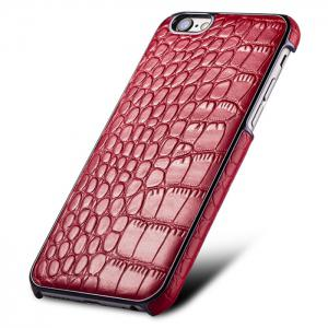 Mecoco Leather Protective Back Case for iPhone 6 / 6S Alligator Pattern Mobile Protector -