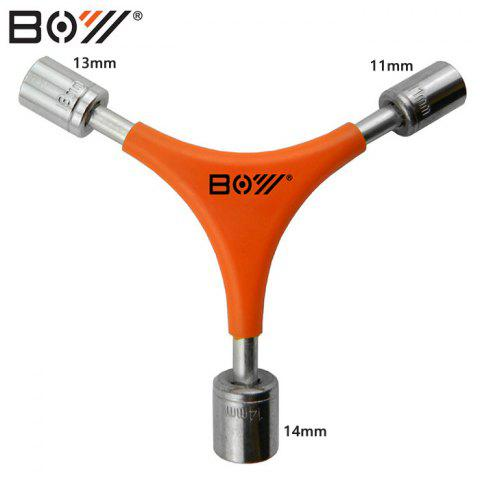 Trendy BOY 7034B Bicycle Y-shaped Socket Wrench Carbon Steel Made -   Mobile