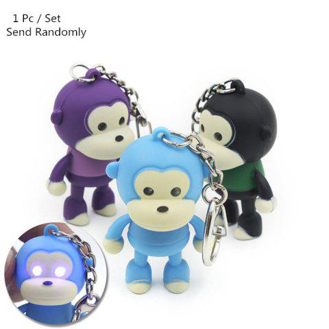 ABS Monkey Style Key Chain with Light   Sound Hanging Pendant