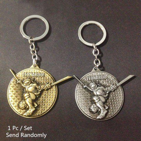 Chic Key Chain Metal Turtle Style Hanging Pendant Keyring Movie Product for Key Bag Decoration