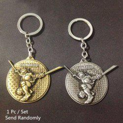 Key Chain Metal Turtle Style Hanging Pendant Keyring Movie Product for Key Bag Decoration -