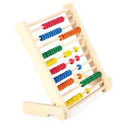 Wooden Fold Beads Abacus Counting Educational Toy for Kid -