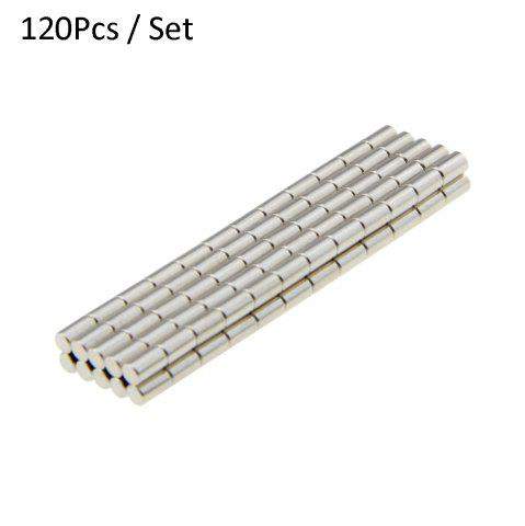 Fancy 120Pcs N38 3 x 5mm Strong NdFeB Cylinder Magnet Birthday DIY Intelligent Gift