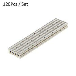 120Pcs N38 3 x 5mm Strong NdFeB Cylinder Magnet Birthday DIY Intelligent Gift -