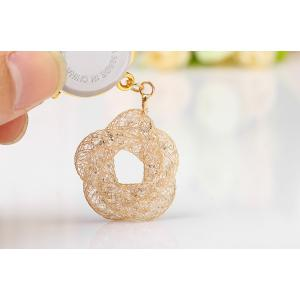 JUBAOLI 1111 Female Quartz Shiny Stainless Steel Mesh Band Flower Pendant -