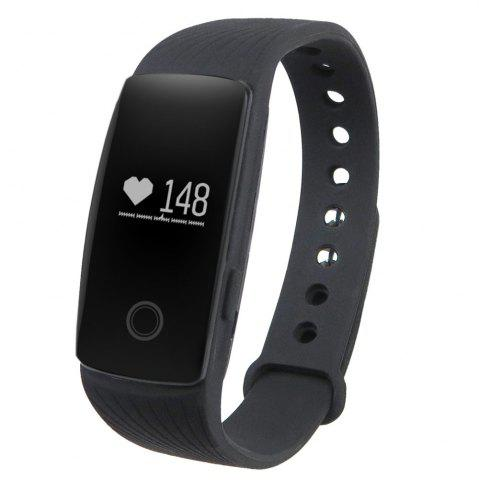 Outfits ID107 Smart Watch with Heart Rate Monitor Pedometer Remote Camera Function BLACK