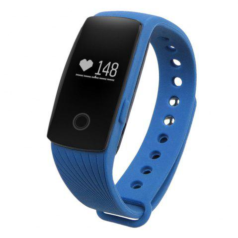 Unique ID107 Smart Watch with Heart Rate Monitor Pedometer Remote Camera Function BLUE