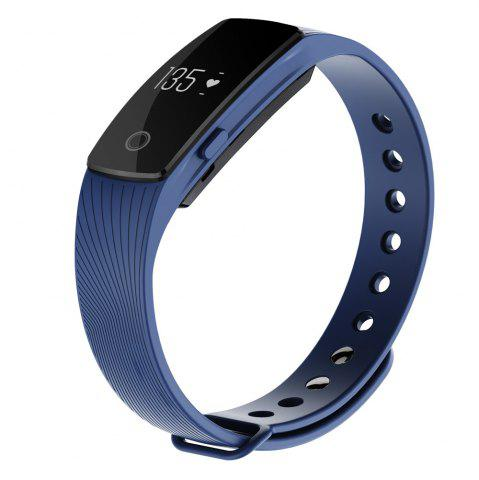 Online ID107 Smart Watch with Heart Rate Monitor Pedometer Remote Camera Function - BLUE  Mobile