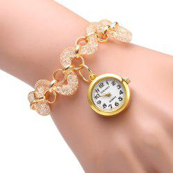 JUBAOLI 1109 Bracelet Female Quartz Twisted Stainless Steel Band Round Dial -