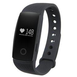 ID107 Smart Watch with Heart Rate Monitor Pedometer Remote Camera Function