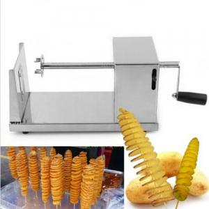 Stainless Steel Manual Spiral Potato Chip Making Machine Homemade Spuds Cutter Slicer -