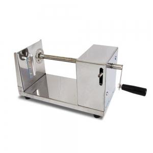 Stainless Steel Manual Spiral Potato Chip Making Machine Homemade Spuds Cutter Slicer - SILVER