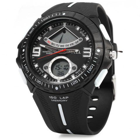 Hot SMAEL 1315 Men Sports Digital Watch Dual Movt Day Date LED Backlight