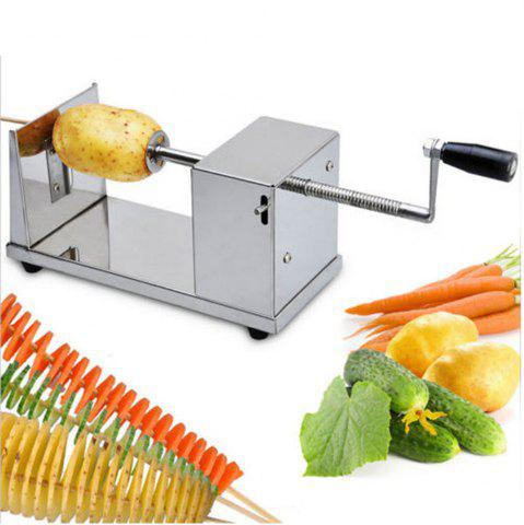 Outfits Stainless Steel Manual Spiral Potato Chip Making Machine Homemade Spuds Cutter Slicer