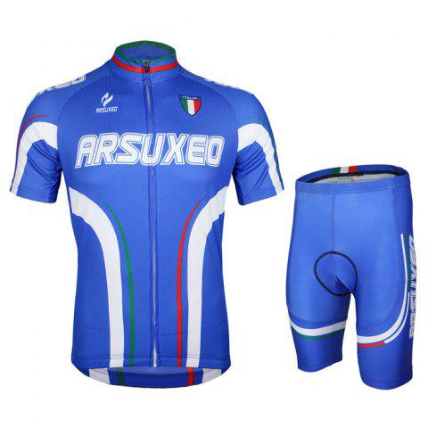 Affordable Arsuxeo ZSS54 Cycling Short Sleeve Suit for Men -   Mobile