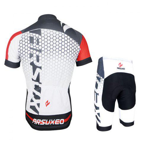 Fancy Arsuxeo ZSS52 Cycling Short Sleeve Suit for Men -   Mobile