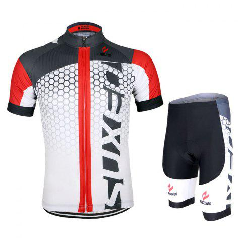 Sale Arsuxeo ZSS52 Cycling Short Sleeve Suit for Men -   Mobile