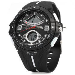 SMAEL 1315 Men Sports Digital Watch Dual Movt Day Date LED Backlight -
