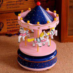 Romantic Carousel Wind-up Music Box Home Decoration / Collection -