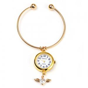 JUBAOLI 1104 Bracelet Female Quartz with Angel Pendant Round Dial -